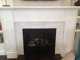 motive marble fireplace surround