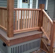 Deck Railing Designs Images Cedar Porch Railing Designs