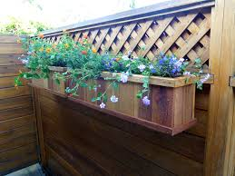 Fence Flower Box Fence Planter Box Plans Flowers Boxes Upclose Decoration  Garden Style
