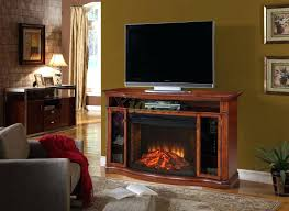 full image for retro style electric fireplace vintage tv stand a curved firebox for