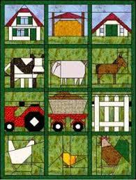 Blokken van de maand 2003 paper pieced quilt blocks farm animals ... & Blokken van de maand 2003 paper pieced quilt blocks farm animals. .. not in Adamdwight.com