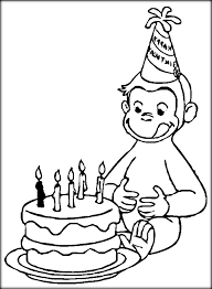 Small Picture Curious George Coloring Pages Color Zini
