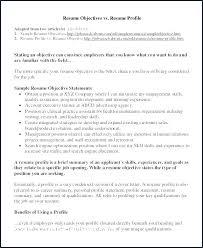 Professional Profile Resume Examples Customer Service Resume