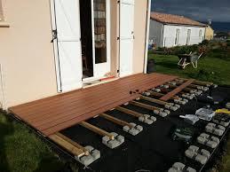 Pose Terrasse Lame Composite Sur Plot Beton Projets Essayer