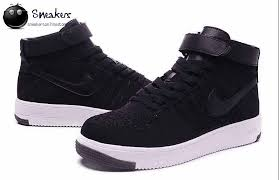 nike shoes 2016 high tops. 2016 latest nike air force 1 flyknit high tops shoes for women black white