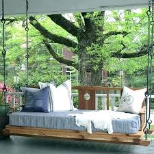 outdoor hanging beds bed outside porch that will make diy
