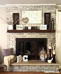 red brick fireplace mantel decorating ideas fireplace ideas rh possibilism org