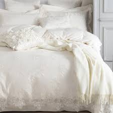 embroidery lace overlay shabby chic white french paris cottage luxury bedding duvet cover pillow jpg