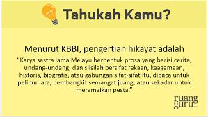 Pengertian Hikayat Dan Karakteristiknya Bahasa Indonesia Kelas 10