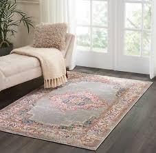 nourison passion distressed vintage grey area rug 5 3 x