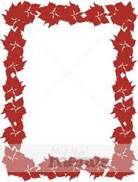 Poinsettia Blank Menu Christmas Menu Borders