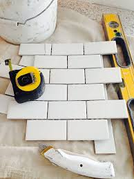 Small Picture how to install subway tile backsplash using mini tile sheets from