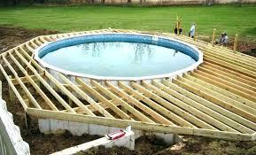 Elegant Pool Decks Above Ground Swimming Plans