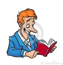 man reading book joy learning