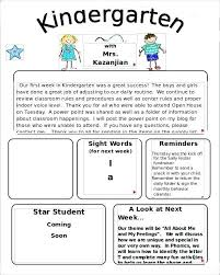 Monthly Newsletter Template For Teachers Free Printable School Newsletter Templates Teacher Word Class Weekly