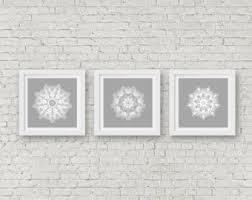 grey mandala wall art set of 3 matching prints white wall art modern bathroom wall prints set boho art dining room wall decor hippie artwork on matching wall art prints with matching artwork etsy