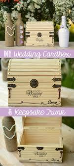 diy wedding cardbox and keepsake trunk