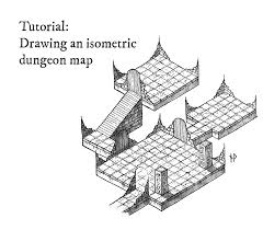 Dungeon Design Tips Tutorial How To Draw An Isometric Dungeon Map Niklas