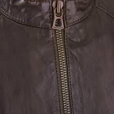 boss orange jermon leather biker jacket brown mens hugo boss jackets coats