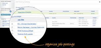 organize job postings screen shot talent acquisition manager job description