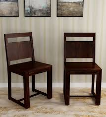 Image Pottery Barn Buy Avian Solid Wood Dining Chair set Of 2 In Warm Chestnut Finish By Woodsworth Online Contemporary Dining Chairs Dining Furniture Pepperfry Pepperfry Buy Avian Solid Wood Dining Chair set Of 2 In Warm Chestnut Finish