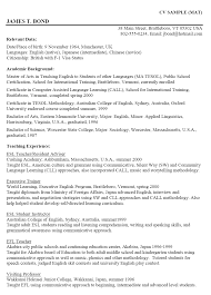 Cv English Example Personal Profile Perfect Resume Format