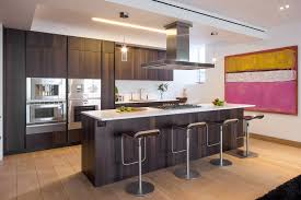 Kitchen Island Breakfast Bar Art Penthouse Apartment In Tribeca
