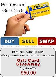 swap or cash out your gift card
