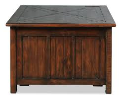 Fraser Lift Top Coffee Table Rustic Pine Levin Furniture Espresso Finish 4