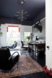 beautiful westinghouse ceiling fans in home office transitional with pictures of bungalow homes next to black leather sofa ideas alongside painted ceiling