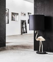Gold Flamingo Extra Large Black Shaded Table Lamp