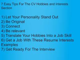 These Hobbies In Cv Will Get You A Job Stefania Goldman