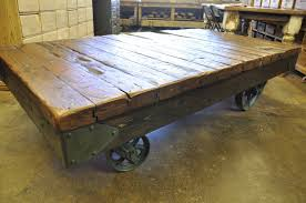 Mill Cart Coffee Table Oklahoma Barn Market Industrial Cart Coffee Table