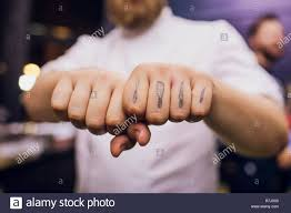 Man Making Clenched Fist Camera Selective Focus The Cook Has A