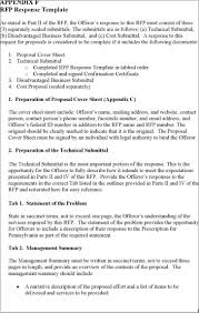 Response To Rfp Sample 017 Template Ideas Response To Rfp Free Best Of Proposal
