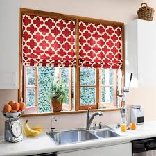 Red Curtains For Kitchen Red Kitchen Curtains Of Beautify Your House With Kitchen Curtain