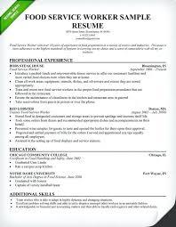 Resume For Food Server Food Service Resume Examples Customer Service Representative Resume