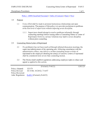 008351620 1 Counseling Memo Template Examples Informal