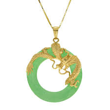 gold plated jade dragon pendant sterling silver gemstone necklaces jewelry your navy exchange official site