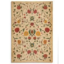vintage vinyl fl folk art floorcloth