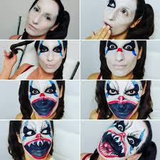 step by step scary clown makeup tutorial