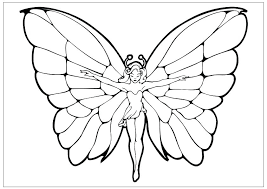 Special Free Coloring Pages Flowers And Butterflies Top Design Ideas