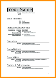 Resume Layout In Microsoft Word 2007 Professional Resume Templates