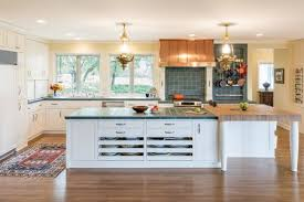 Kitchen tiles countertops Large Green Tile In Traditional White Kitchen The Spruce 18 Tile Kitchen Countertops That Are Surprisingly Fresh