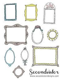 Paper Frames Templates Free Digital Frames And Printable Draw Draw And A Little