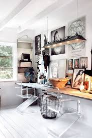 white airy home office. Design Ideas: Wishbone Chair And Sleek Desk Give The Home Office An Airy Ambiance White N