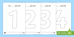 Print from screen or download for later. Age 1 To 10 Big Numbers Coloring Pages Teacher Made