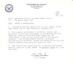 Standard Naval Letter Format Letter Of Recommendation Copy Usmc