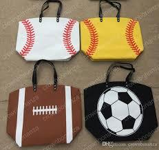 women s handbag canvas bag baseball tote bags sports bags casual tote softball bag football soccer basketball bag 335 leather purse womens purses from