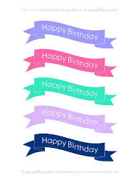 Free Printable Happy Birthday Cake Banners Free Printables